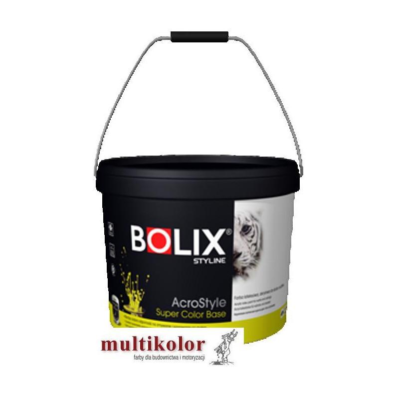 Bolix Acrostyle Super Color Base 30 9 L biała farb emulsyjna matowa wewnętrzna Styline