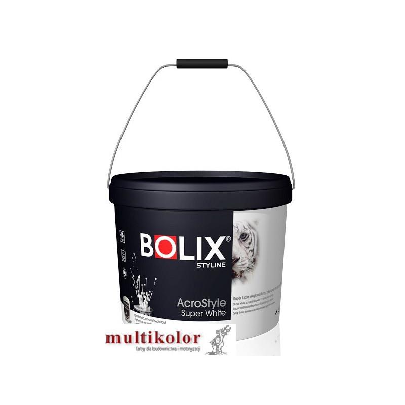 Bolix Acrostyle Super White styline matowa farba emulsyjna wewntrzna biała