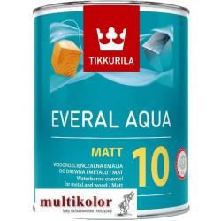 EVERAL AQUA MATT 10 kolor NCS 8500 N wodorozcieńczalna matowa akrylowa biała emalia farba nawierzchniowa Tikkurila