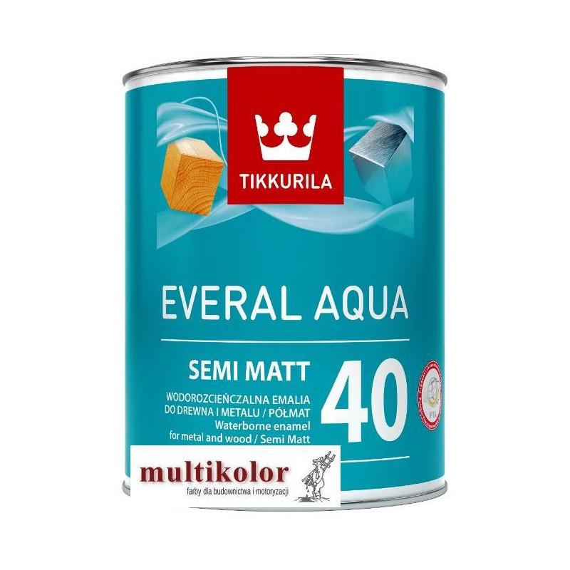 EVERAL AQUA 40 - farba emalia akrylowa biała półmatowa Tikkurila