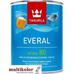 EVERAL EXTRA 80  farba emalia chlorokauczukowa biała /baza A Tikkurila