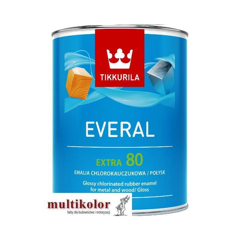 EVERAL EXTRA 80 kolor NCS 8500-N farba emalia chlorokauczukowa kolory z mieszalnika Tikkurila