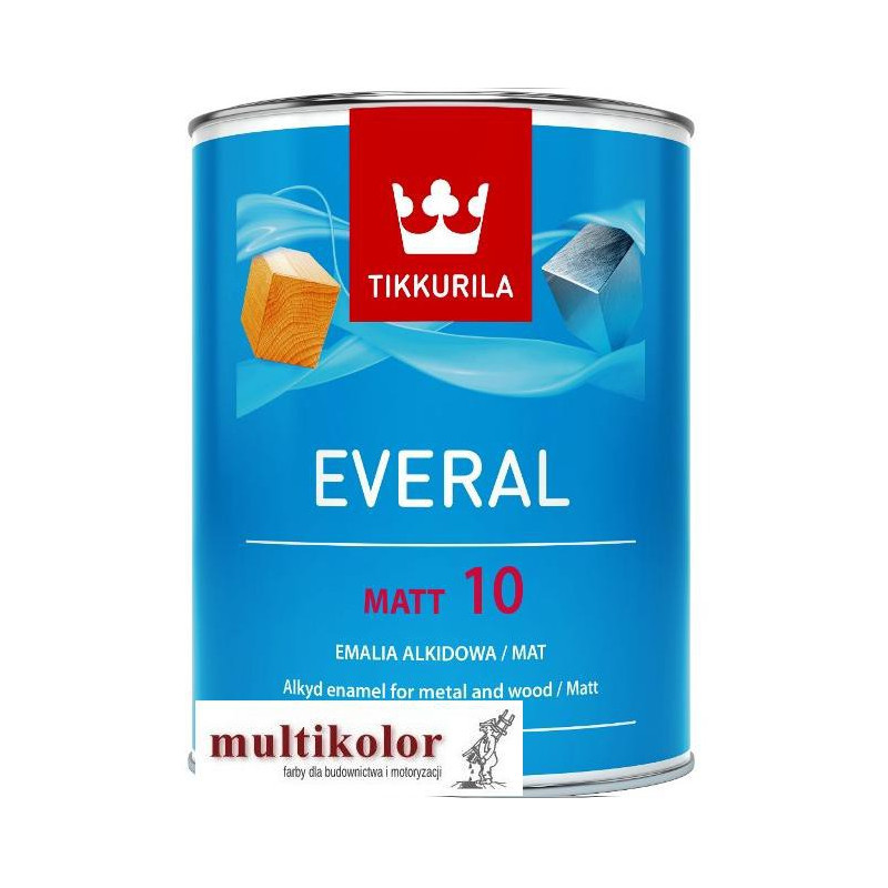 EVERAL MATT 10 kolor NCS 8500-N farba emalia alkidowa matowa kolory z mieszalnika Tikkurila