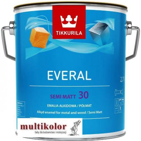 EVERAL SEMI MATT 30 farba emalia alkidowa półmatowa biała/baza A Tikkurila