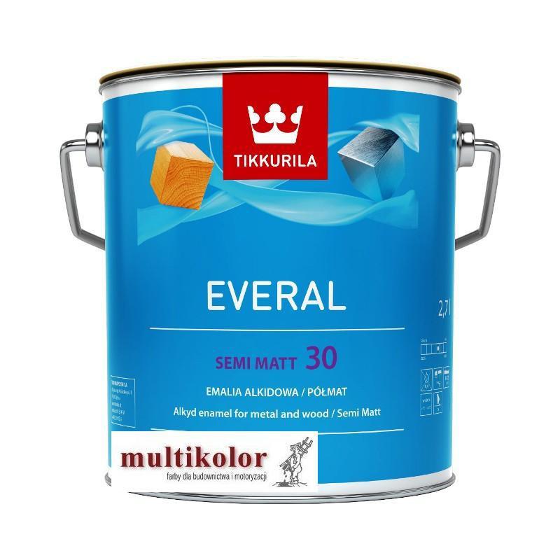 EVERAL SEMI MATT 30 kolor NCS 8500-N farba emalia alkidowa półmatowa kolory z mieszalnika Tikkurila