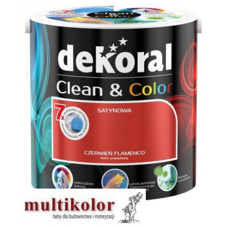Dekoral CLEAN@COLOR satynowa farba lateksowa w kolorach 2,5L