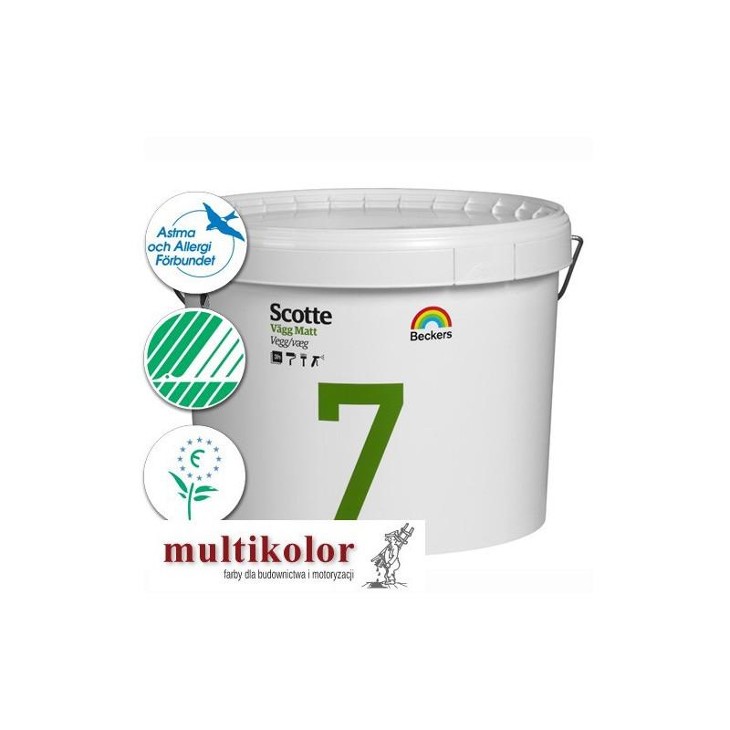 SCOTTE VAGG MATT 7 profi farba emulsyjna półmatowa wewnętrzna biała baza A / vit