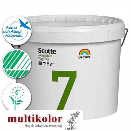 SCOTTE VAGG MATT 7 profi farba emulsyjna półmatowa wewnętrzna biała baza A / vit Beckers