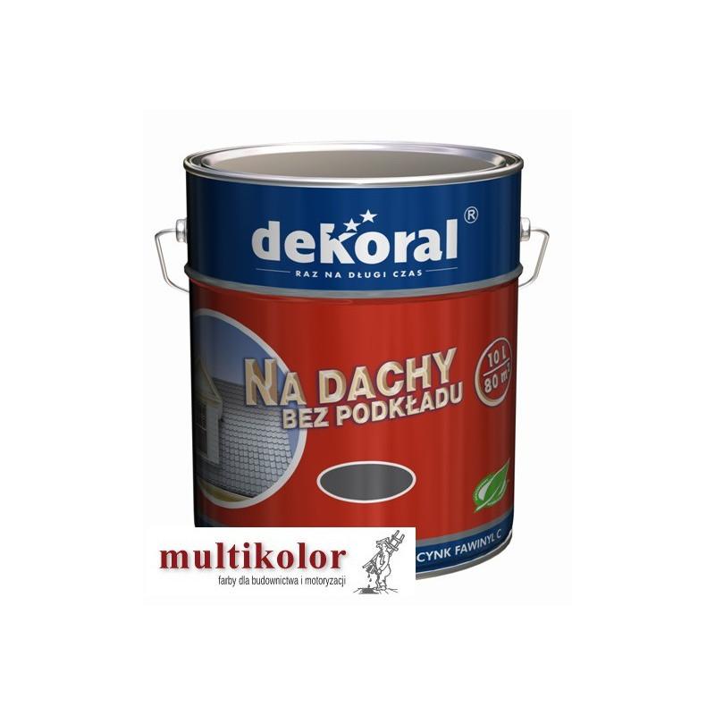 DEKORAL FAWINYL C 10L farba do malowania dachów ocynkowanych PROMOCJAPROMOCJA