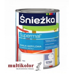 SUPERMAL ŚNIEŻKA akrylowa kolor NCS 1050-B10G supermal farba emalia akrylowa kolory z mieszalnika