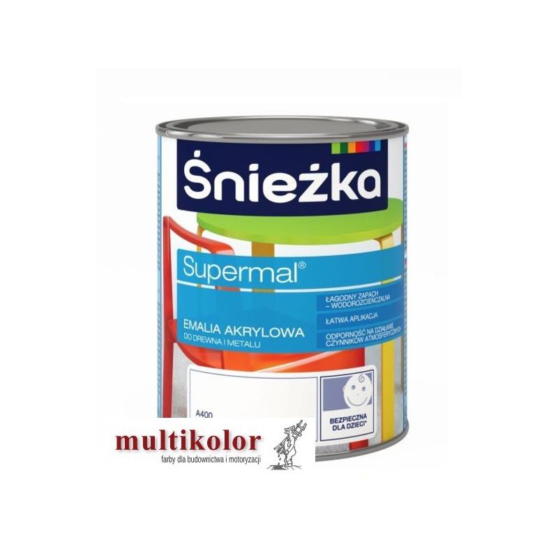 SUPERMAL ŚNIEŻKA SUPERMAL farba emalia akrylowa kolory z mieszalnika