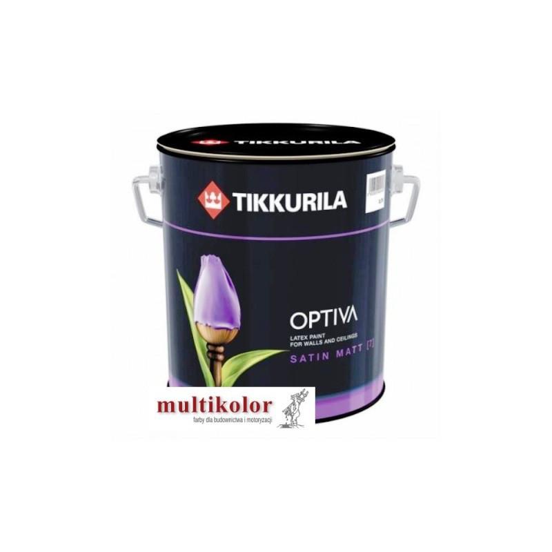 OPTIVA SATIN MATT 7  farba emulsyjna półmatowa wewnętrzna tikkurila kolory z mieszalnika