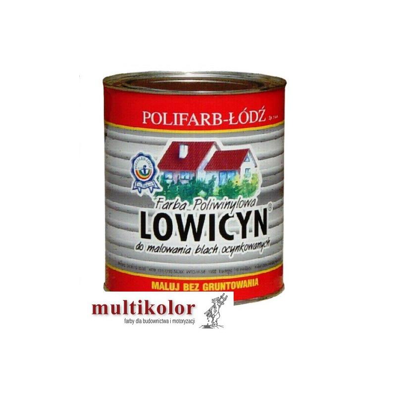 LOWICYN farba poliwinylowa matowa do malowania dachów blachy ocynkowanej