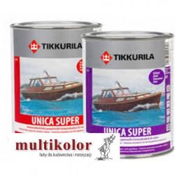 UNICA SUPER LACQUER  bezbarwny półbłyszczący lakier uretanowo alkidowy do malowania drewna Tikkurila