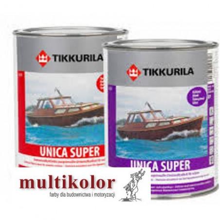 UNICA SUPER LACQUER  bezbarwny błyszczący lakier uretanowo alkidowy do malowania drewna Tikkurila