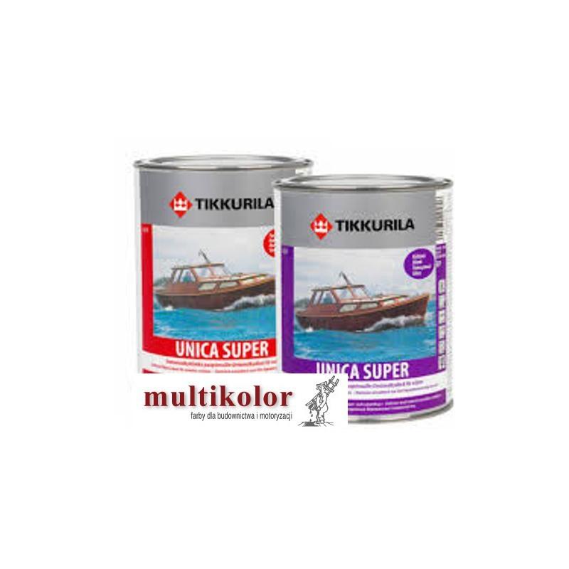 UNICA SUPER LACQUER bezbarwny błyszczący lakier uretanowo alkidowy do malowania drewna kolory z mieszalnika Tikkurila
