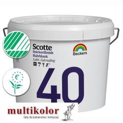 SCOTTE SNICKERIFINISH 40 kolor NCS 8000-N profi półmatowa farba emalia akrylowa kolory z mieszalnika Beckers