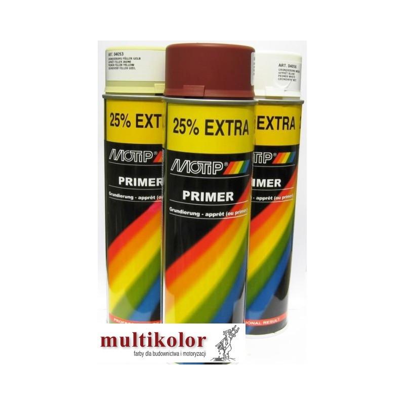 MOTIP LAKIER PODKŁADOWY spray 500ml szary żółty biały czerwony tlenkowy