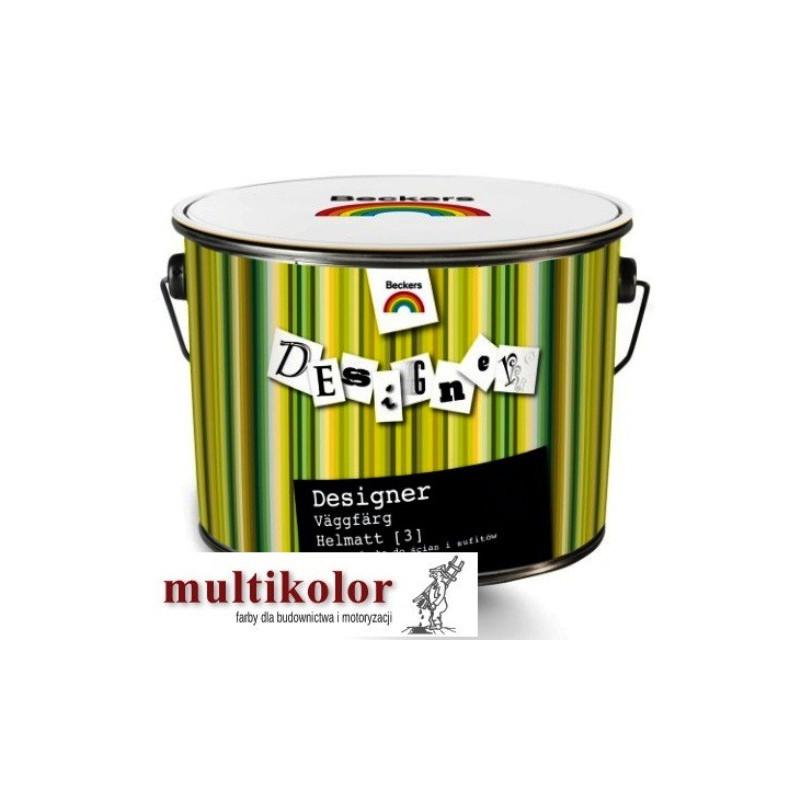DESIGNER VAGGFARG HELMATT 3 farba emulsyjna matowawewnętrzna kolory z mieszalnika Beckers