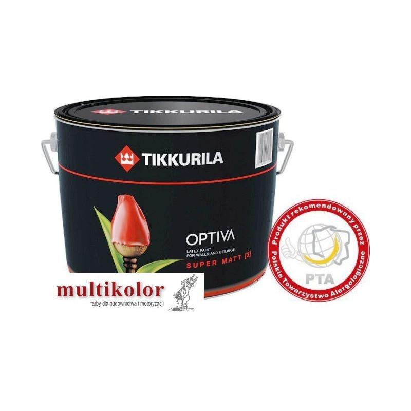 OPTIVA SUPER MATT 3 farba emulsyjna matowa wewnętrzna biała/baza A Tikkurila