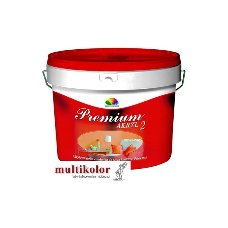 PREMIUM AKRYL 2 farba emulsyjna matowa wewnętrzna biała(baza A)