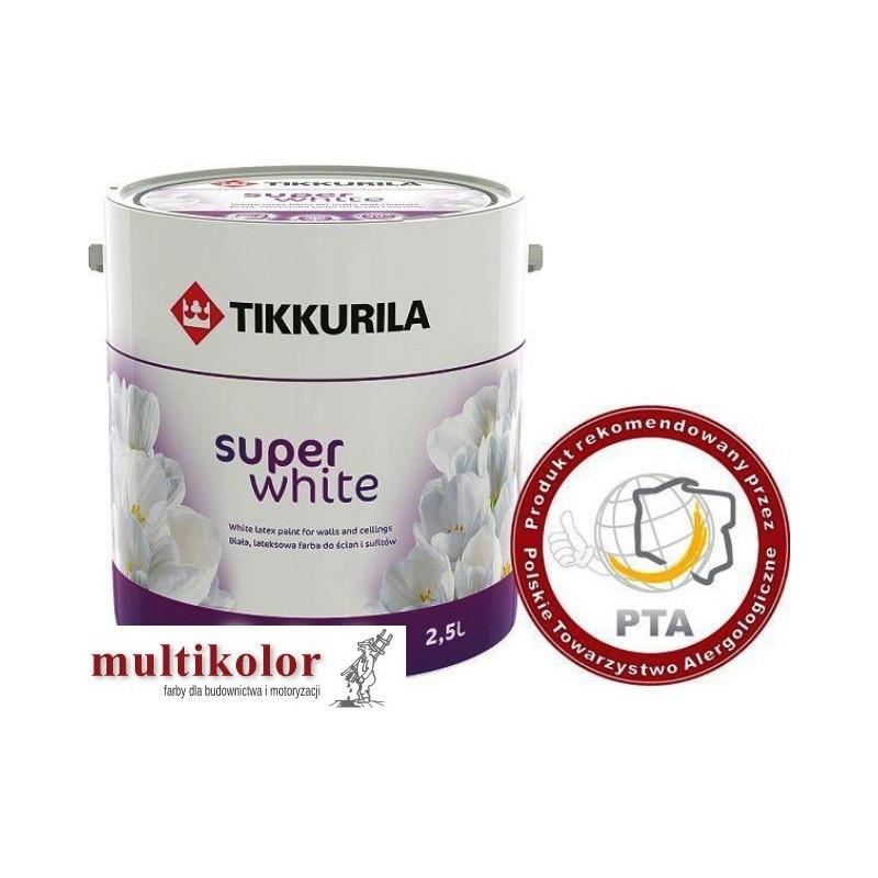 SUPER WHITE farba emulsyjna matowa wewnętrzna biała Tikkurila