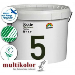 SCOTTE HELMATT 5 kolor NCS 8000-N farba emulsyjna lateksowa matowa wewnętrzna kolory z mieszalnika Beckers