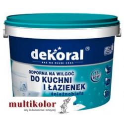 DEKORAL MALEINAK farba emulsyjna do kuchni i łazienek odporna na wilgoć biała