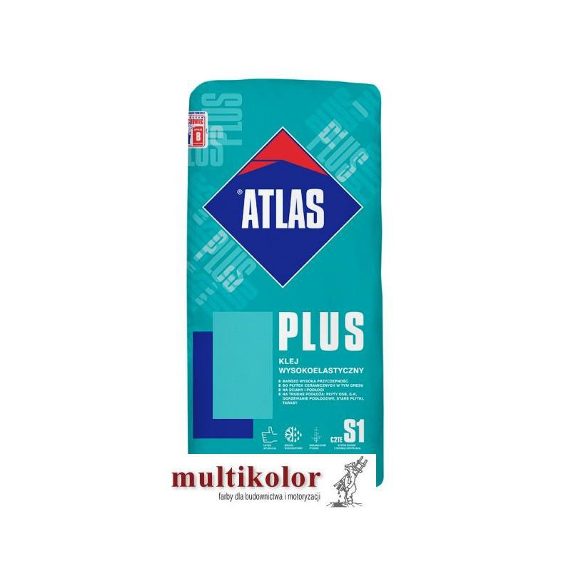 ATLAS PLUS 25kg klej odkształcalny do glazury płytek ceramicznych